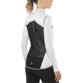 Craft Lithe Fietsvest Dames, white/black
